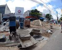 Reforma em calçadas da Rio Branco termina no fim do ano