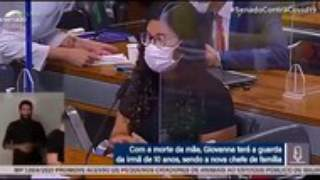 CPI da Covid: intérprete de libras se emociona ao transmitir relato de órfã