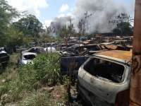 Pátio de delegacia em Natal tem segundo incêndio em menos de 30 dias
